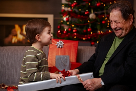 La ilusión de un nieto en Navidad