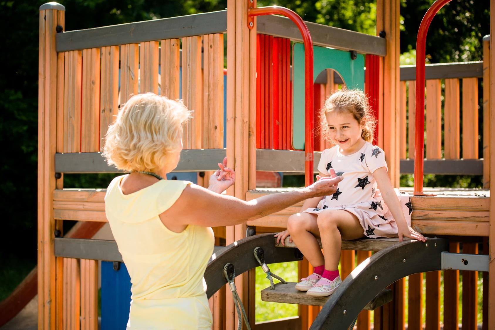Abuela en el parque