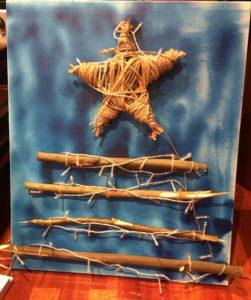 adornos navideños: arbol en lienzo