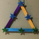Adornos navideños: estrella palitos